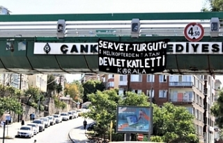 Servet Turgut için pankartlı eylem