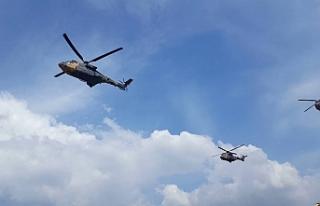 Erdoğan, Şırnak'tan 9 helikopter eşliğinde...