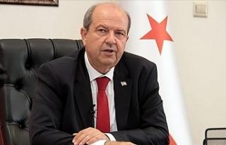 Kuzey Kıbrıs'ın yeni cumhurbaşkanı Ersin Tatar...