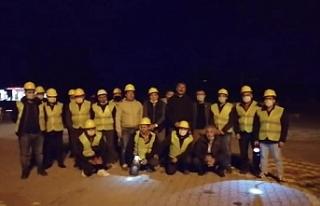 Direnişteki madencilerden İzmir dayanışması