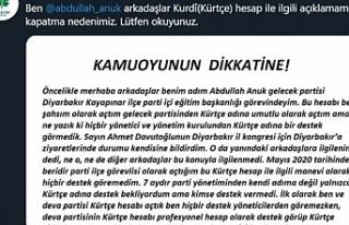 Gelecek Partisi'nin Kürtçe Twitter hesabı ilgisizlikten...