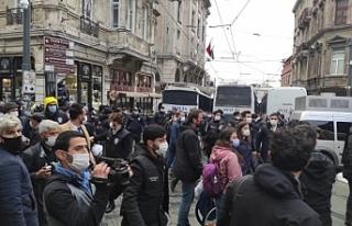 Gözaltı protestosuna müdahale: Çok sayıda gözaltı
