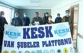 KESK Van Şubesi: 'Krizin faturası emekçilere...