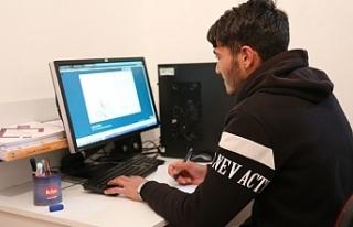 Online eğitim için Erzurum'dan Ankara'ya geldi