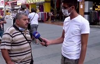 Sokak röportajında iktidarı eleştiren Demirbaş...