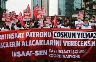 Bir yıldır ücretlerini alamayan işçiler isyanda