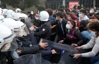 Boğaziçi öğrencilerine polis müdahalesi