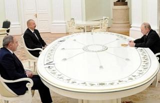 Putin, Aliyev ve Paşinyan görüşmesi sona erdi