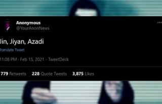 Anonymous'tan 'Jin, Jiyan, Azadî'...