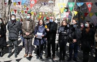 Van'da 15 şubat protesto edildi
