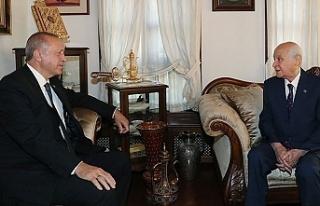 Erdoğan, Bahçeli'yi yine evinde ziyaret etti