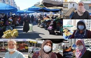 Kadın semt pazarına 'erkek' baskısı