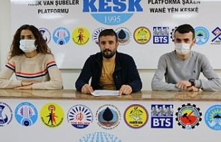 SES Van Şubesi üyeleri taleplerini duyurdu