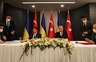 Cumhurbaşkanı Erdoğan ile Ukrayna Devlet Başkanı...