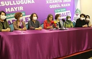 HDP 'Kadın yoksulluğuna hayır' kampanyasının...