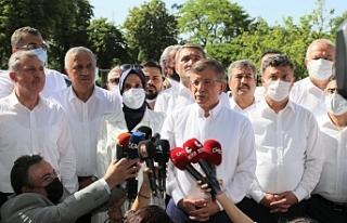 Davutoğlu Polis engeline rağmen konuştu: Temiz...