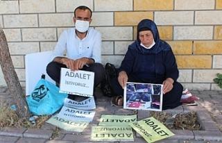 """Şenyaşar ailesinin """"Adalet"""" nöbeti, 86'ncı..."""