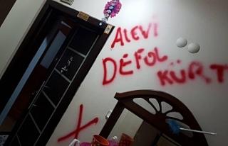 HDP görevlisinin duvarına ırkçı yazılama