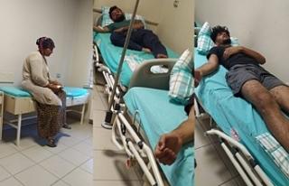Afyon'da Irkçı saldırıda yaralanan Kürt işçiler...