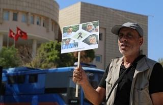 İzol ailesi Urfa Adliyesi önünde adalet talep etti