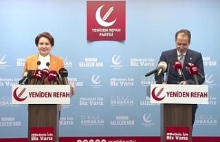 Akşener, Fatih Erbakan'ı bugün Yeniden Refah...