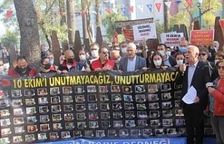 Ankara Katliamı'nda yitirililenler anıldı: Yine...