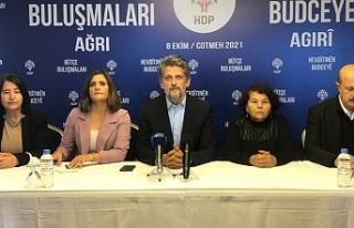 HDP'den Ağrı buluşması: Saray bütçesine karşı...