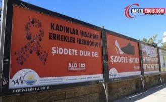 Van'da Kayyımdan cinsiyetçi 25 Kasım afişi