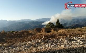 Dersim'de orman yangını 9 gündür devam ediyor