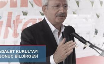 CHP Adalet Kurultayı'nın sonuç bildirgesi
