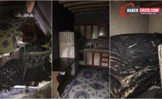 Van'da bir ev kundaklandı