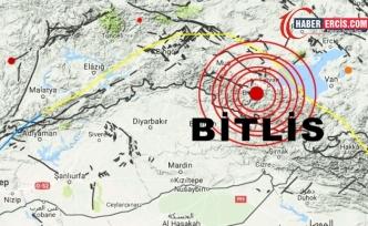 Bitlis'te 4.6 büyüklüğünde deprem