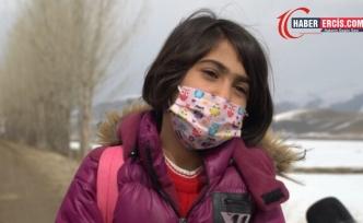Erciş'te okul yolu mevzuata takıldı