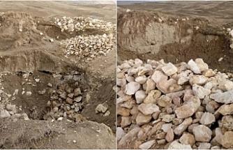Erciş'te Urartu Devleti'nin başkenti olan Zernaki Tepesi definecilerin hedefinde