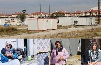 9 yıldır konteynerlerde yaşayan depremzedeler seslerinin duyulmasını istiyor