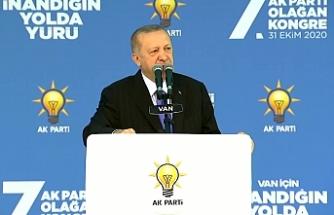 Van'da Erdoğan ekonomi için 'sabır' istedi