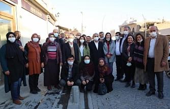 Mardin esnafından Sancar'a sıcak karşılama