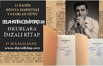 Yazarlar, 15 Kasım Hapisteki Yazarlar Günü'nde Demirtaş'ın 'Leylan' adlı romanını okuyor