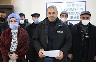 Van'da TUHAY-DER: Tutukluların talepleri karşılansın