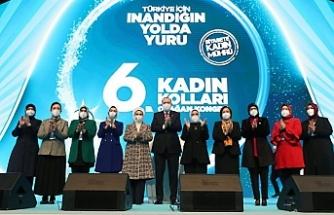 Erdoğan: Kadının adı varsa AKP sayesinde