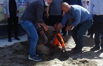 Van'da bir işçi elektrik akımına kapıldı