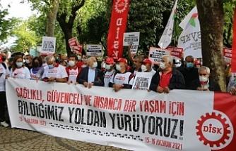 DİSK, 15-16 Haziran'da hayatını kaybedenleri andı