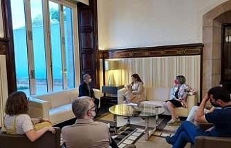 Rojava heyetinden Katalan Parlamentosu'na ziyaret
