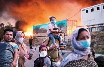 Moria Kampı'nda kalan Afgan mülteci anlattı: Yangın sayesinde dışarı çıkabildiler