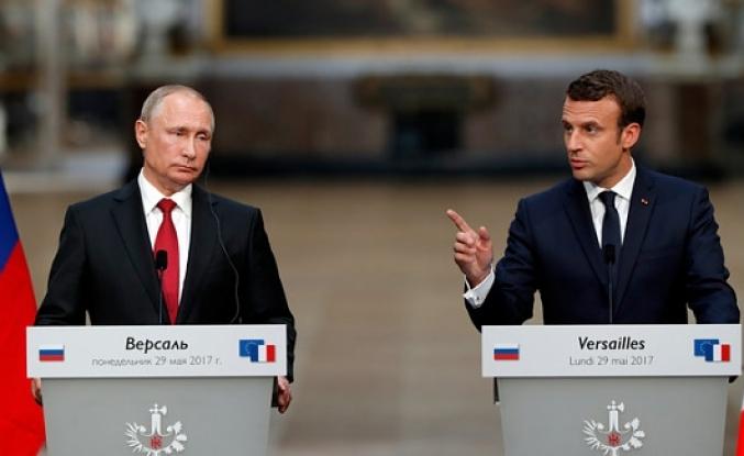 Erdoğan, Macron ve Putin'le görüştü