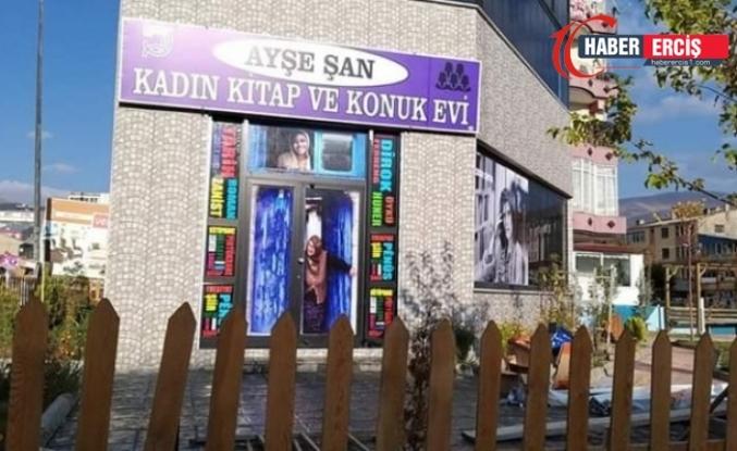 Van'da Kayyım Ayşe Şan Kadın Kitap ve Konuk Evi'nin kapısına kilit vurdu