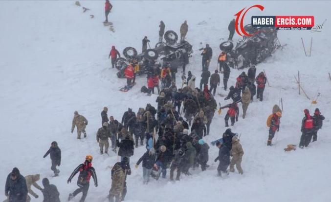 Van'da Çığ bölgesinde arama kurtarma çalışmalarına ara verildi
