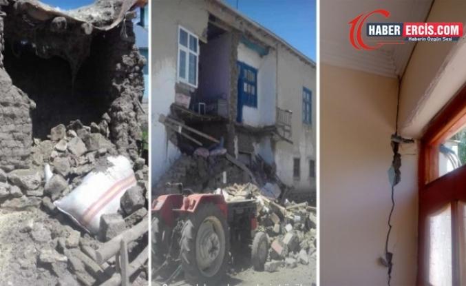Van depreminde birçok ev ve ahır hasar gördü