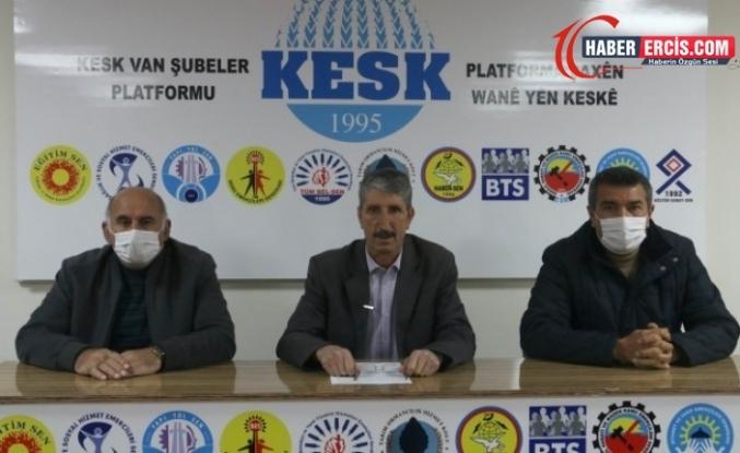 Van'da KESK'ten üyelerine verilen cezalara tepki
