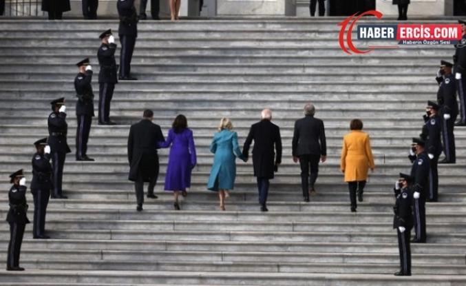 Joe Biden ve Kamala Harris, Kapitol Binası'nda